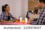 happy young couple having... | Shutterstock . vector #1239078457