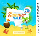 summer sale discount offers... | Shutterstock .eps vector #1239080197