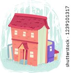 illustration of a book house... | Shutterstock .eps vector #1239101317
