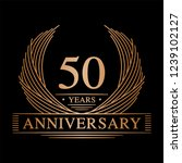 50 years design template. 50th... | Shutterstock .eps vector #1239102127