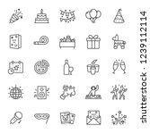 party  icon set. celebration ...   Shutterstock .eps vector #1239112114