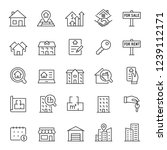 Real Estate  Icon Set. Purchas...