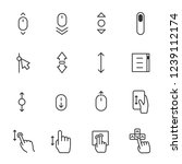 scrolling  icon set. scroll up...   Shutterstock .eps vector #1239112174