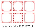 Vector Set Of Red Square Frame...
