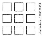 set of vector square frames and ... | Shutterstock .eps vector #1239123994
