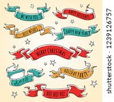 set of colored holiday ribbons... | Shutterstock .eps vector #1239126757