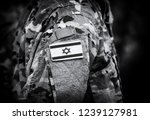 israel flag on soldiers arm ... | Shutterstock . vector #1239127981
