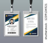 professional id card design...   Shutterstock .eps vector #1239134521