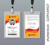 stylish id card design template | Shutterstock .eps vector #1239134527