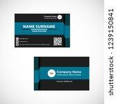business card vector design   Shutterstock .eps vector #1239150841