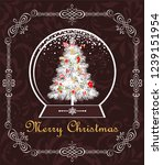 greeting vintage christmas... | Shutterstock .eps vector #1239151954