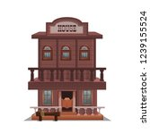 house for western town for game ... | Shutterstock .eps vector #1239155524