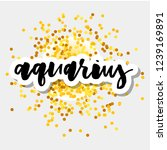 zodiac sign aquarius logo and... | Shutterstock .eps vector #1239169891