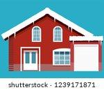 winter western style house | Shutterstock .eps vector #1239171871