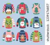 christmas holiday cute ugly... | Shutterstock .eps vector #1239176857