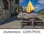 franz senn hutte  2 147 m asl ... | Shutterstock . vector #1239179251