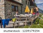 franz senn hutte  2 147 m asl ... | Shutterstock . vector #1239179254