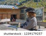 franz senn hutte  2 147 m asl ... | Shutterstock . vector #1239179257