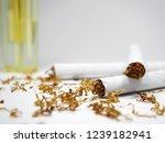 cigarettes  cigarette lighter ...   Shutterstock . vector #1239182941