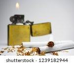 cigarettes  cigarette lighter ...   Shutterstock . vector #1239182944