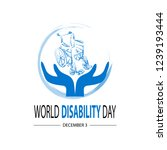 world disability day concept | Shutterstock .eps vector #1239193444