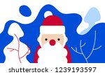 santa claus vector art. cartoon ... | Shutterstock .eps vector #1239193597