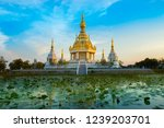"""Small photo of A beautiful Thailand temples, pagodas and Buddha statute in old historical's Thailand country at """"Khon Kaen"""" Province Thailand"""