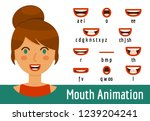 mouth lip sync set | Shutterstock .eps vector #1239204241