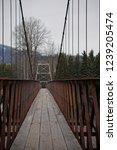 Walcott Walking Bridge Crossing the Bulkley-Nechako River