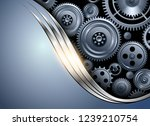 abstract background metallic... | Shutterstock .eps vector #1239210754