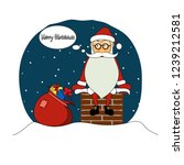 cartoon funny santa claus on...   Shutterstock .eps vector #1239212581