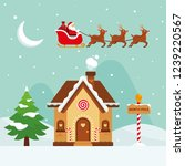 christmas   flat illustration   ... | Shutterstock .eps vector #1239220567