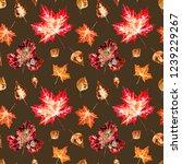 seamless pattern of autumn... | Shutterstock . vector #1239229267