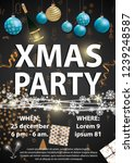 xmas party invitation card... | Shutterstock .eps vector #1239248587
