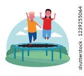 children at the playground | Shutterstock .eps vector #1239255064