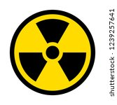 reproduction of radioactive... | Shutterstock . vector #1239257641
