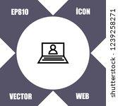 notebook account icon vector   Shutterstock .eps vector #1239258271