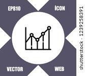 diagram chart icon vector   Shutterstock .eps vector #1239258391