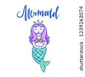 mermaid cute vector... | Shutterstock .eps vector #1239263074