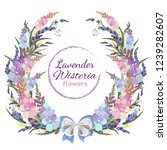 vector postcard with flowers...   Shutterstock .eps vector #1239282607