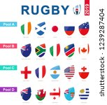 rugby 2019  all pools and flag... | Shutterstock .eps vector #1239287404