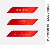best choice label and red color.... | Shutterstock .eps vector #1239290887