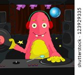 cartoon character funny monster.... | Shutterstock .eps vector #123929335