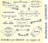decorative vector design... | Shutterstock .eps vector #123930019