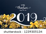 merry christmas greetings and... | Shutterstock .eps vector #1239305134