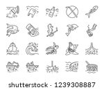marine pollution icon set.... | Shutterstock .eps vector #1239308887
