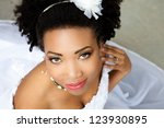 beautiful african american... | Shutterstock . vector #123930895