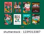 brazil carnival. vector... | Shutterstock .eps vector #1239313387