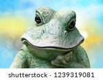 Close Up Of Frog Head. A...