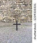 Stock photo black cross in kilmainham gaol in dublin ireland 1239333331